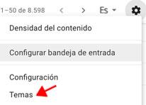 modo oscuro en Gmail